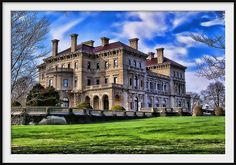 The Breakers Mansion - Newport, RI -- the other side is the ocean.  every one of them is amazing though, all of the mansions are truly unique