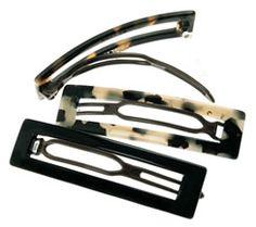 france luxe long rectangle cutout plastic barrette