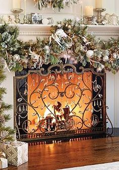 The Louviere Fire Screen will add elegance to your hearth while sending firelight dancing with the hand-cut crystals that are draped throughout the scrolling design.