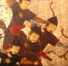 """""""Hearing this, my hair stood on end, my body shivered with fear, my tongue stuttered miserably, for I saw that the inevitable moment of dreadful death was menacing me.""""Mongol soldiers depicted in the …"""