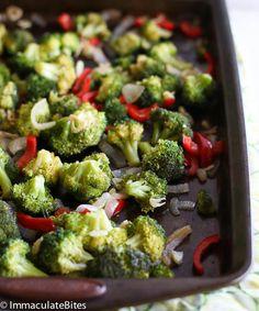 Spicy Roast Garlic Broccoli - Immaculate Bites