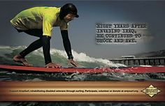AMPSURF Posters    AMPSURF is a non-profit organization dedicated to helping rehabilitate amputee veterans through surfing.