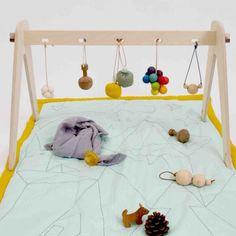 modern wooden baby gym; geometric baby activity center; baby, Moderne