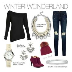 Stella & Dot | Winter Wonderland | Bundle up and don't forget your sparkles! Shown: Starlet Pearl Necklace, Straburst Ear Jackets, Icon-Convertible Watch - Stone, Sparkle Inspiration Bangle http://www.stelladot.com/shop/en_us/whats-new/new-arrivals?s=andreapowell