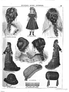 Victorian coiffures, hair updo's and other items. Historical Hairstyles, Edwardian Hairstyles, Vintage Hairstyles, Victorian Hats, Victorian Fashion, Vintage Fashion, Historical Costume, Historical Clothing, Charles X