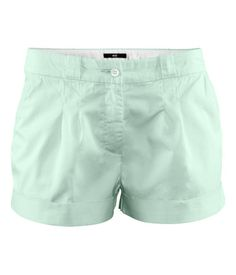 h shorts in pastel green. $17.95