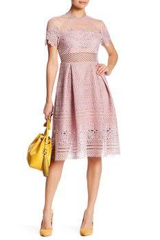 Few Moda Eyelet Yoke Short Sleeve Dress