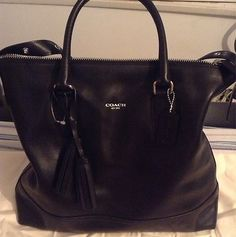 NWOT Coach Legacy Rory Black Leather Satchel MSRP $398 Adjustable Shoulder Strap