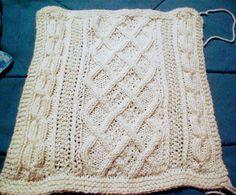 Great American Afghan knitted blocks