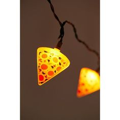 Pizza String Lights (580 MXN) ❤ liked on Polyvore featuring home and lighting