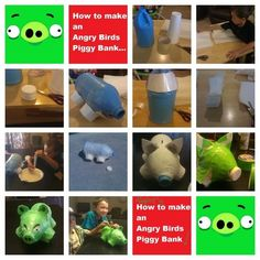 Angry Birds Paper Mache Piggy Bank.