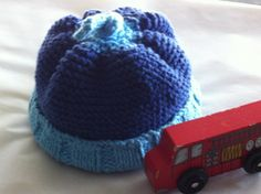 "Little Boy Blue hand knit baby hat for the new ""man"" in your life."