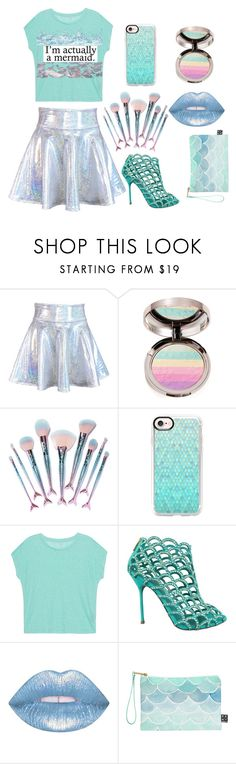 """Untitled#32"" by elro13 ❤ liked on Polyvore featuring Ciaté, Featherella, Casetify, Majestic Filatures, Sergio Rossi, Lime Crime and DENY Designs"