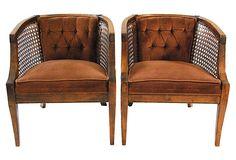 Barrel Cane-Back Chairs, Pair on OneKingsLane.com $1800/$795 $15