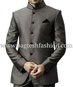 Groom Wedding Jodhpuri Suit Jodhpuri suit Suits, Blazer for gray color jodhpuri suit - Gray Things Wedding Men, Wedding Groom, Wedding Suits, Wedding Reception, Tuxedo Wedding, Wedding Attire, Diy Wedding, Wedding Rings, Wedding Dresses