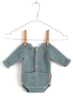 Knitted Onesie Free Pattern & Tutorial - Musgo Baby -