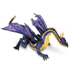 This is the Midnight Moon Dragon figure from Safari. Safari is well known for making accurate figures of animals and things from the world of natural sciences, but did you know that they also have a s