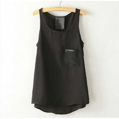 Pocket Chiffon Vest #casual #weekend #Fashion