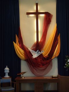 Simple but effective for Pentecost... uses wild goose but could use a dove instead....