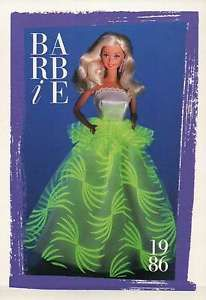 """barbie collectible fashion trading card 