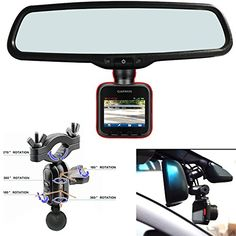 AccessoryBasics Car Rearview Mirror Mount Kit for Garmin Dash Cam 10 20 25 Driving Recorder * Read more  at the image link.