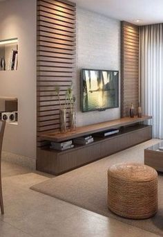 Meuble Tv Angle, Living Room Tv Unit, Living Room Decor, Living Room Designs, Be… - Home Decoraiton Tv Wall Decor, Wall Tv, Tv Unit Decor, Bedroom Tv Wall, Ikea Bedroom, Bedroom Storage, Bedroom Decor, Bedroom Sets, Bedroom Tv Cabinet
