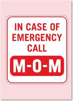Emergency Call - Mother's Day Greeting Cards - Magnolia Press - Tomato - Red : Front