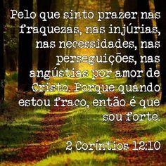 2 Coríntios 12 : 10