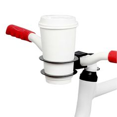 BICYCLE CUP HOLDER | bike accessory, stainless steel cup holder | UncommonGoods