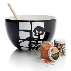 Halloween Skeleton Prep Bowl in New Halloween | Crate and Barrel