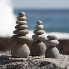Natural River Rock Cairn Stone Stacked Zen Garden Decoration Stone Set of 3 Family Sculpture, Rock Sculpture, Stone Sculptures, Zen Rock Garden, Garden Art, Stone Balancing, Stone Cairns, Balance Art, Balance Quotes