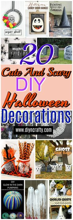 Here I have brought 20 cute and scary DIY Halloween decorations that - how to make scary homemade halloween decorations