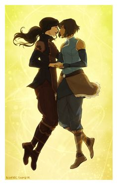 Korrasami (The Legend of Korra) by Nymre