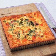 When you're in the mood for a savoury dish make the Bacon, Butternut and Feta Tart.