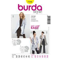 Burda Style Pattern 7184 Jacket
