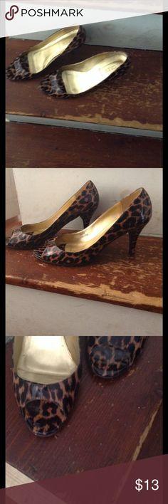 Animal Print Peep Toe J Crew Heels Peep Toe J. Crew Shoes Heels