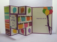 A Little Peace of Paper: A Tri-Fold Shutter Birthday Card