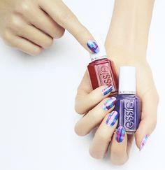 Essie Silk Watercolor Nails Nail Art