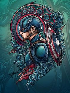 Captain America: Civil War Designs - Created by Juan Manuel OrozcoAvailable for sale as t-shirt today at Qwertee. - Visit to grab an amazing super hero shirt now on sale!