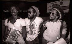 Junior Marvin, Jacob Miller & Bob Marley