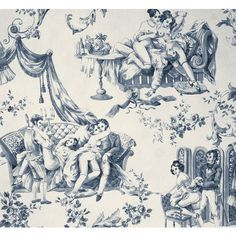 EROTIC TOILE DE JOUY (I just want a pillow with this on it!!! People would never know!!)