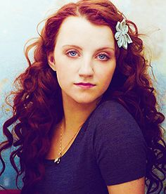 Evanna Lynch... how I wish my hair looked like this (only black) all the time.)
