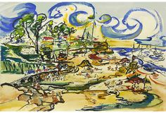 Midcentury Beach Scene on OneKingsLane.com