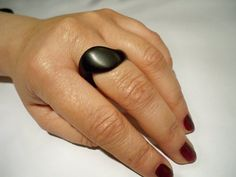 wooden ring ebony wood jewelry rings wood for by Treebuddiesdesign