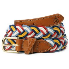 Preppy belts and accessories for men. Kiel James Patrick.