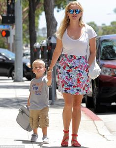 Hold my hand! Reese Witherspoon was spotted hand in hand with her young son Tennessee as t...