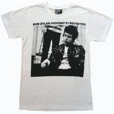 Bob Dylan Highway 61 Revisited Classic Album T-Shirt ❤ liked on Polyvore featuring tops, t-shirts, shirts, tees, pattern tops, print shirts, shirts & tops, pattern shirts and print tees
