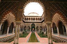 Patio de las doncellas / Cour des Demoiselles dans l'Alcazar de Séville