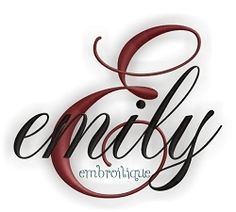 Emily Monogram Font - 4 Sizes! | Alphabets | Machine Embroidery Designs | SWAKembroidery.com