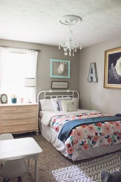 I shared with you all a few weeks ago Ainsley's room and all of the changes that we had done since we moved in. Well, we couldn't just le...
